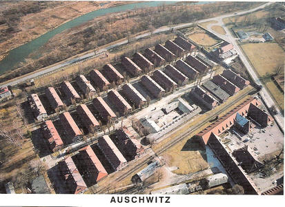 Des baraquements d Auschwitz