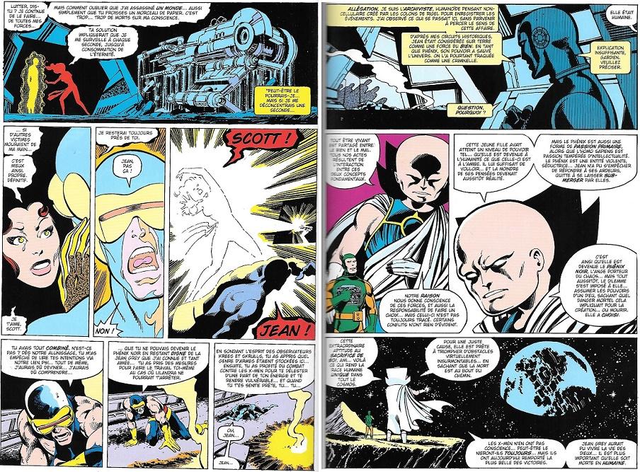 La mort ridiculement théâtrale émouvante du Phénix. Tout ça pour ça??? En seulement deux planches, le monde des comics ne sera plus jamais comme avant…
