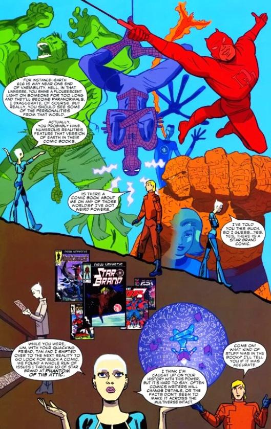 Le lien entre l'univers Marvel et le New Universe