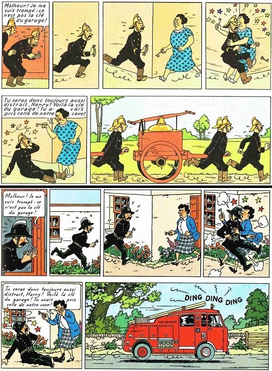 Des pompiers avec un attirail moderne qui ont un problème de clés en 1966, ça fait tout de suite moins sérieux qu'en 1937 !