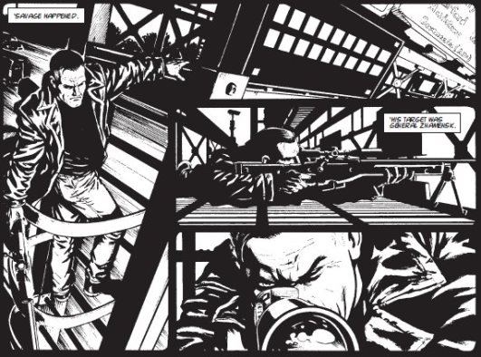 Bill Savage en pleine mission, par Patrick Goddard