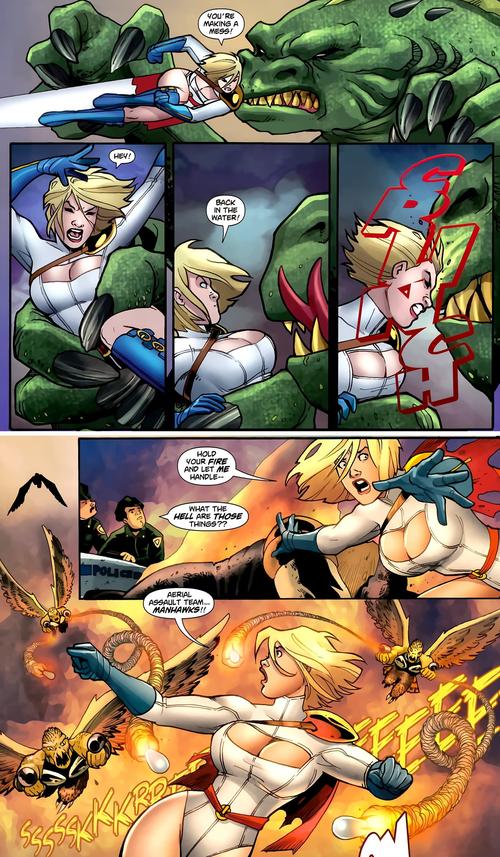 Une héroïne qui affronte de gros monstres