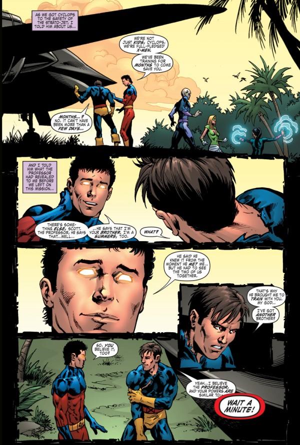Er....Scott, je suis ton frère mais dans 10 ans je voudrais quand même te tuer parce que le script l'exige !