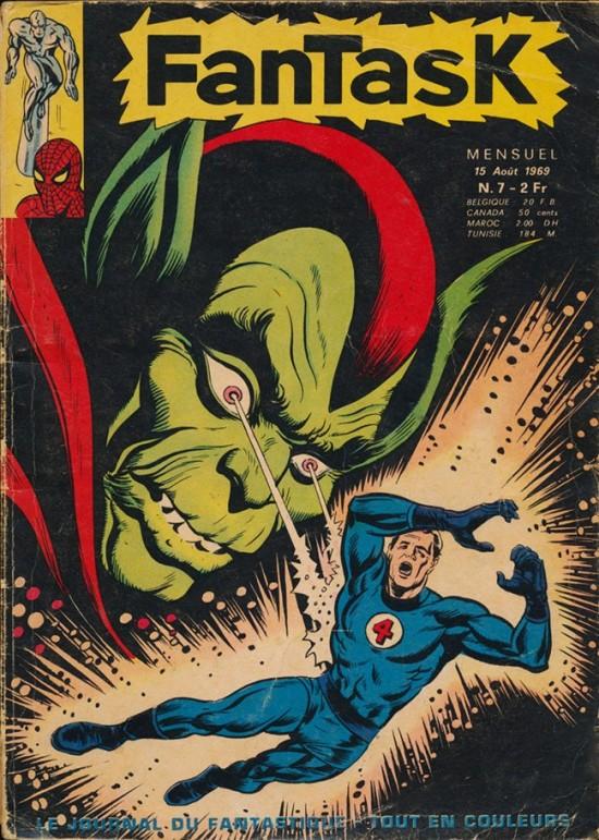 La première couverture de super héros de Jean Frisano qui a succédé à ses travaux sur les petits formats de chez Lug (comme Kiwi). Non, le numéro ne coûte plus 2 francs aujourd'hui.