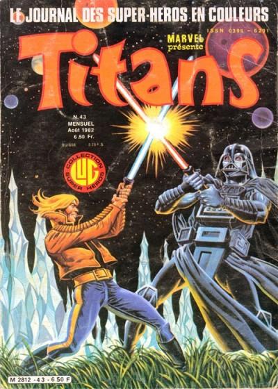 La première couverture de Thomas Frisano que son père n'a pas retouchée. Thomas a commencé à travailler avec son père à l'âge de 15 ans pour le compte de Lug en 1978. Il avait donc 19 ans lors de la publication de ce numéro de Titans.