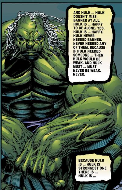 Hulk se mentirait-il à lui-même ?