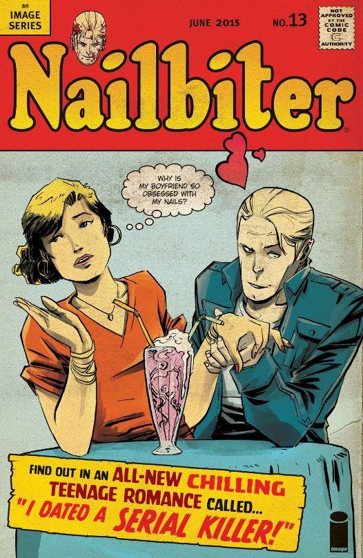 Couverture parodique évoquant les comics de romance