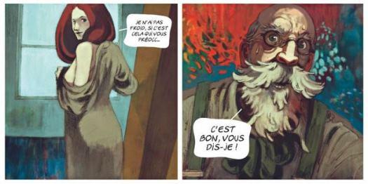 Le modèle et le peintre enflammé Joaquim Mir
