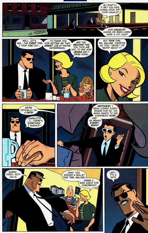 Pour se déguiser, Bruce Wayne a mieux que les lunettes de Clark Kent : la moustache de Malone !