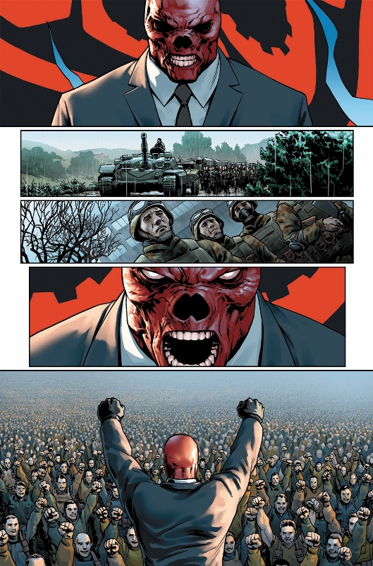 Red Skull en pleine harangue