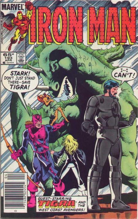 Tony hésite à reprendre du service pour aller secourir Tigra des griffes d'un dino géant...Comment lui en vouloir ?