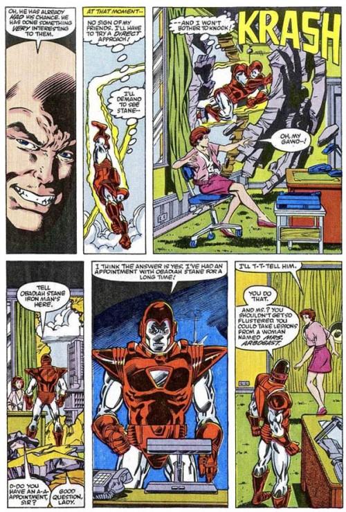 Un grand classique de la série : défoncer les bureaux de Stark International !