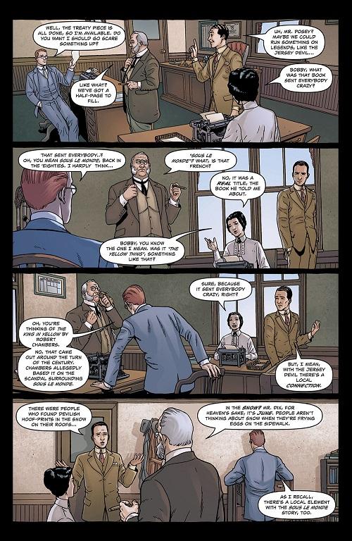 La constance narrative de la série : Chaque planche (quasiment) est découpée en quatre vignettes, de la largeur de la page.