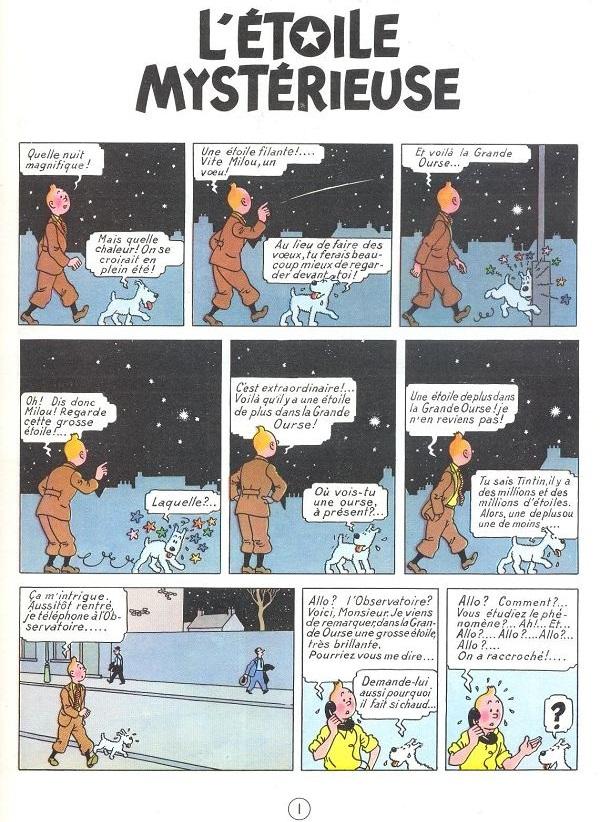 Comme toujours avec Tintin, l'Aventure est au coin de la rue…