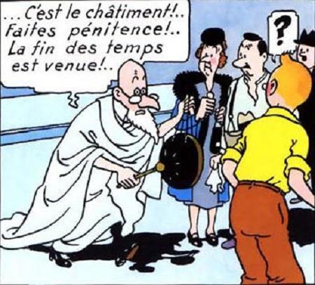 Et si, à travers Tintin, Hergé s'était lui-même menacé de quelque châtiment ?