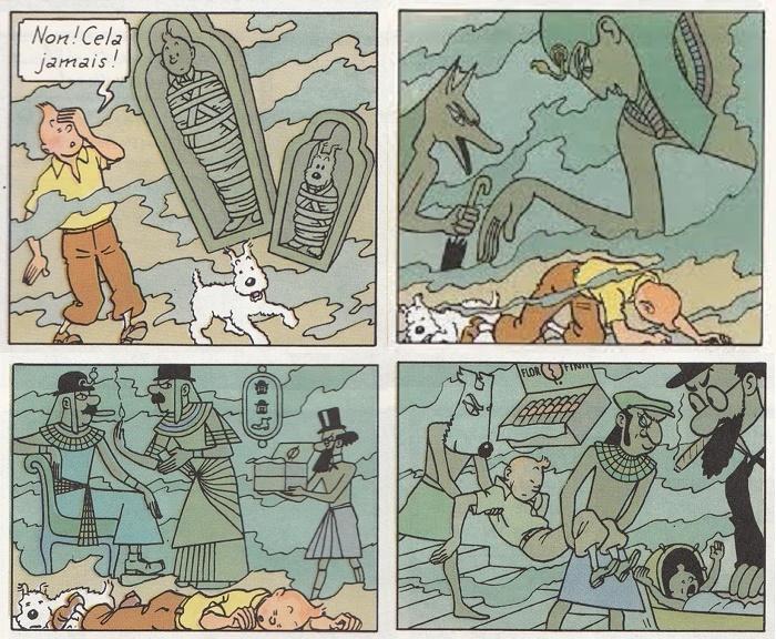 Ah! Les rêves selon Hergé!