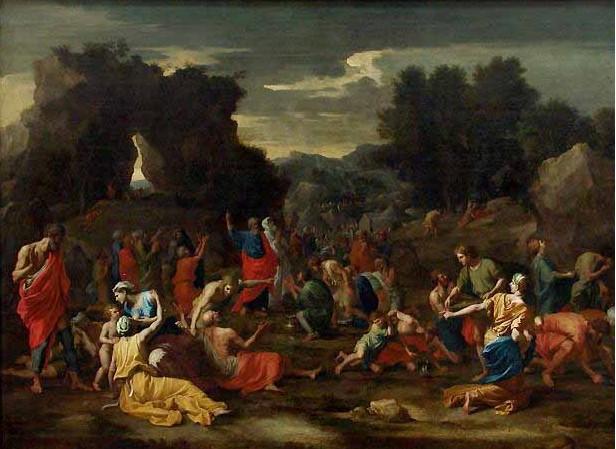 Nicolas Poussin: Les Israélites Recueillant la Manne Dans le Désert (1639)