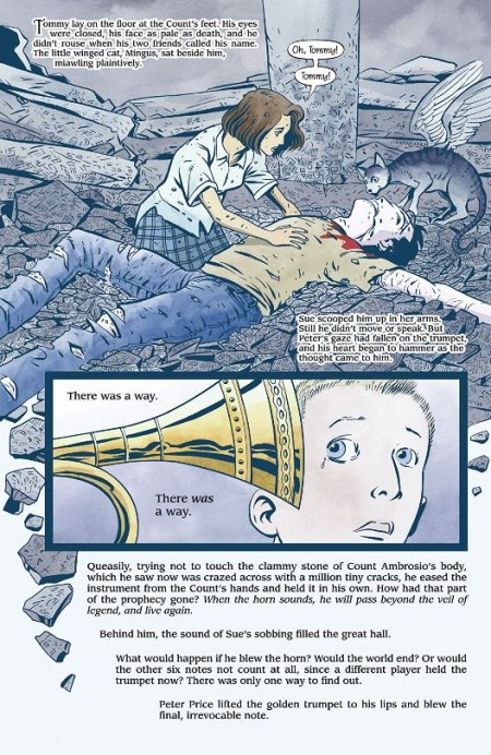 La mort du jeune sorcier en page 3