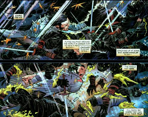 Piégé, Wolverine fonce dans le tas…