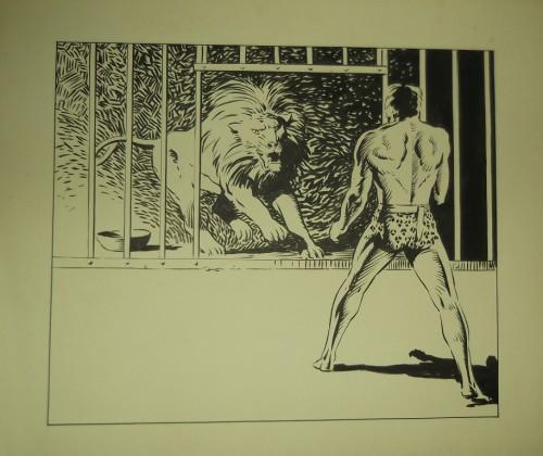 Une autre illustration de Tarzan, réalisée cette fois à l'encre de chine, par Jean pour son plaisir personnel. Et si Lug avait pris la licence Tarzan ? Peut-être que Jean aurait tenté de nous faire une BD son héros favori.