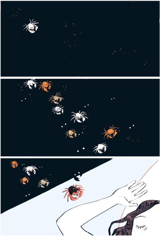 La proie du crabe