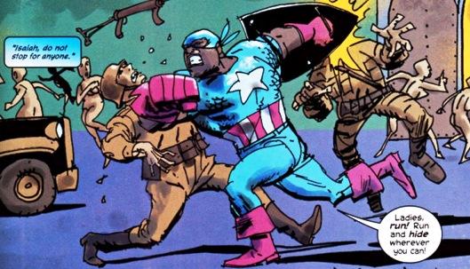 C'était couru d'avance : un Captain America noir contre des nazis