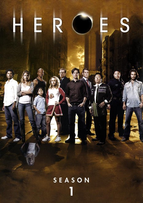 Le casting quasi complet (moins Sylar)  © NBC / Universal  Source : Freecovers http://www.freecovers.net/view/0/8c6d696c075e9e44580dfca609383cb7/Heroes__Season_1_(2006)_R4-front.html