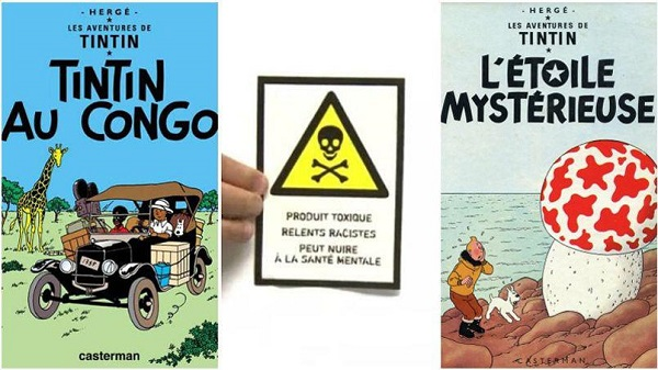 Le genre de montage bienpensant idiot, typique de ce que l'on peut trouver sur la toile, témoignant d'une grande méconnaissance de l'œuvre d'Hergé.