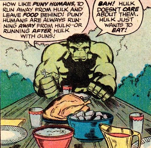 Bien boire et bien manger, Hulk a tout compris !