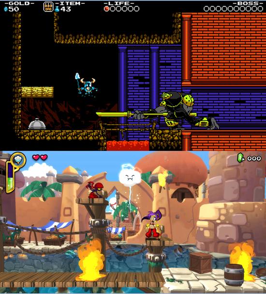 Shovel Knight et Shantae , des exemples d'excellents jeux 2D récents parmi d'autres