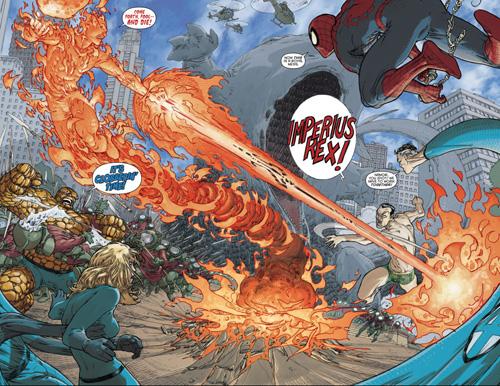 Possédé par Doom, la Torche chauffe Namor…