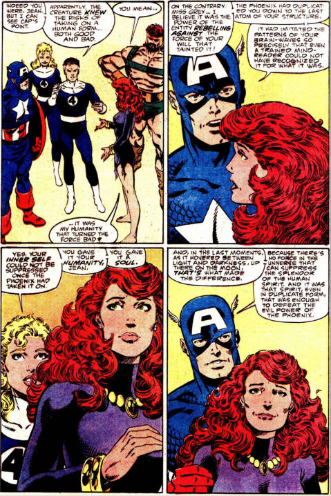 Le bouton reset est enclenché : Cap' dédouane Jean des crimes du Phénix (C) Marvel Comics