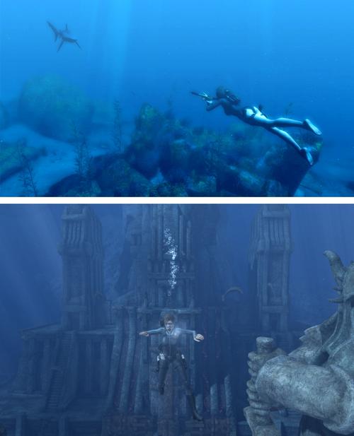 Avant, on pouvait nager et visiter des décors vertigineux de citées englouties au moins