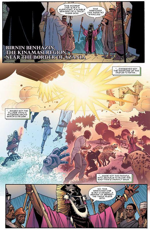 Les destructions causées par Namor, puis par Thanos
