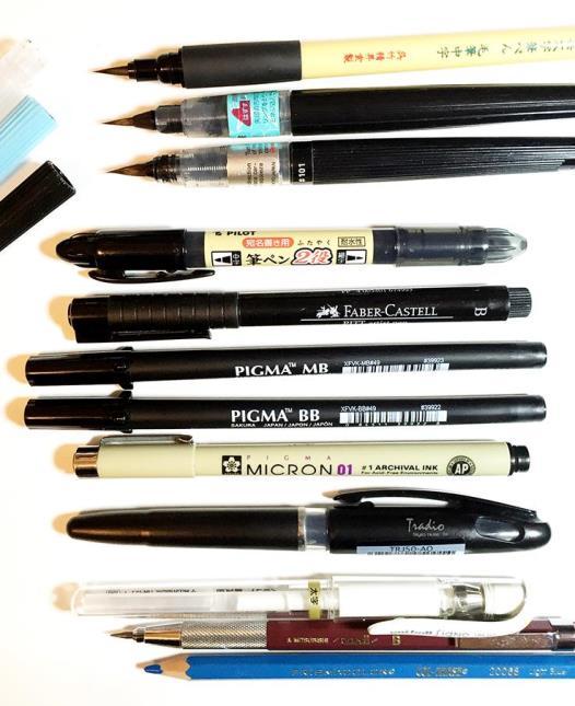 Quelques outils de l'encreur