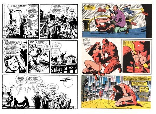 L'influence de Will Eisner (à gauche) sur Frank Miller