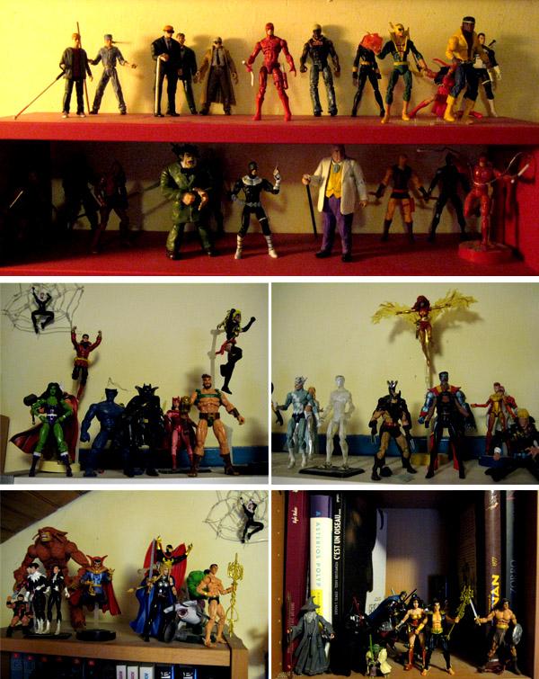 Des figurines regroupées par série/équipe… ou pas
