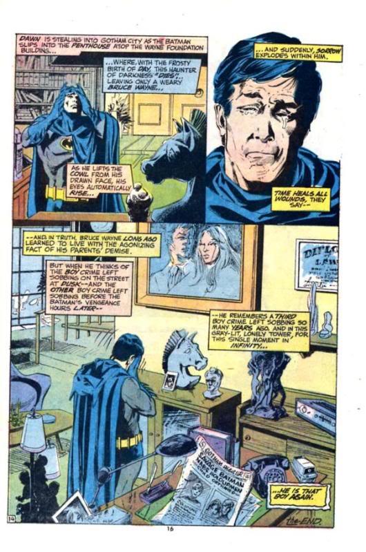 Bruce Wayne pleure ses parents ou sur ce qu'il est devenu ?