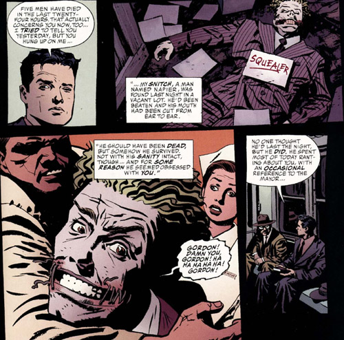 Dans l'intrigue et sur le visage du Joker, des fils un peu trop visibles