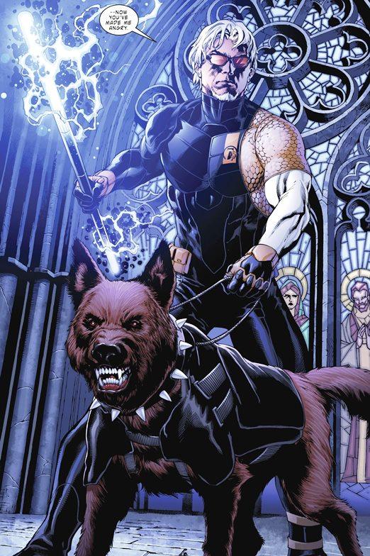 Twilight avec son chien d'aveugle