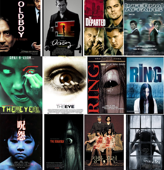 Tout plein de remakes US de films étrangers (dont certains pourris car il y a une justice ! Allez voir 2 sœurs de Jee-Woon Kim plutôt que cette daube de The uninvited )