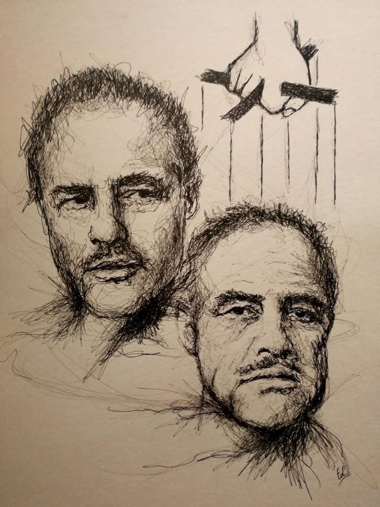 La transformation de Brando vue par l'artiste Edwige Dupont. © Edwige Dupon