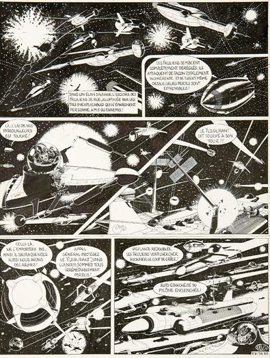 Combats spatiaux contre les pirates dans L'Étoile verte