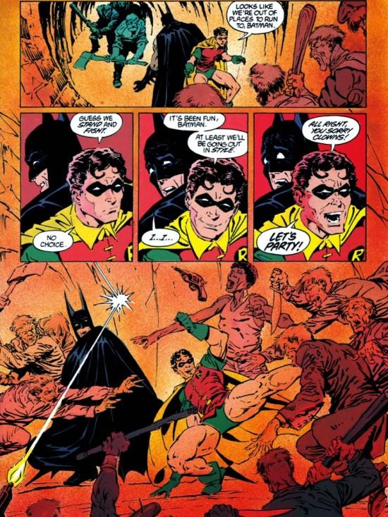 Batman flippe sa mère (pais à son âme) et Robin prend son pied