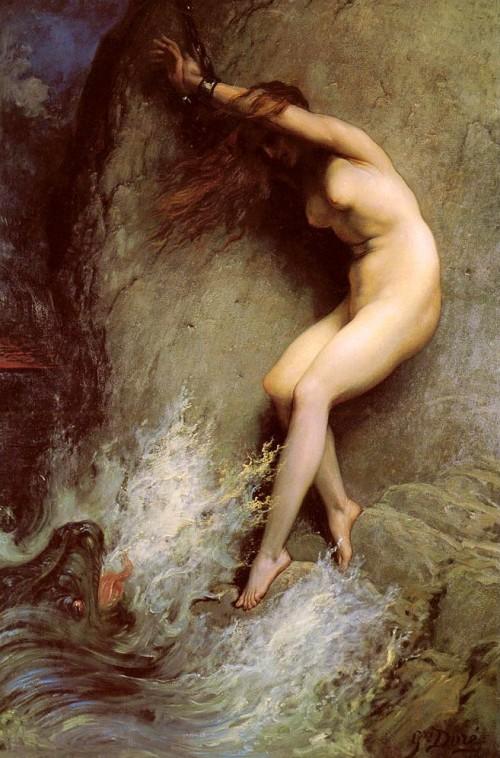 Andromède par Gustave Doré