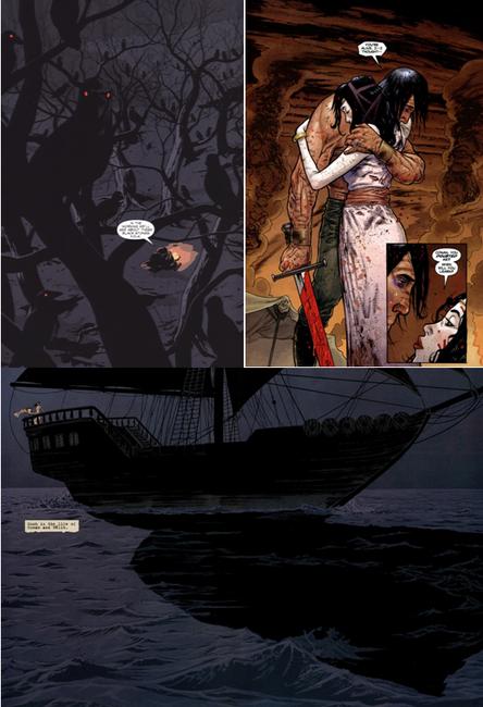 Certains dessins en pleine page sont très réussis (Paul Azaceta, James Harren et Declan Shalvey)