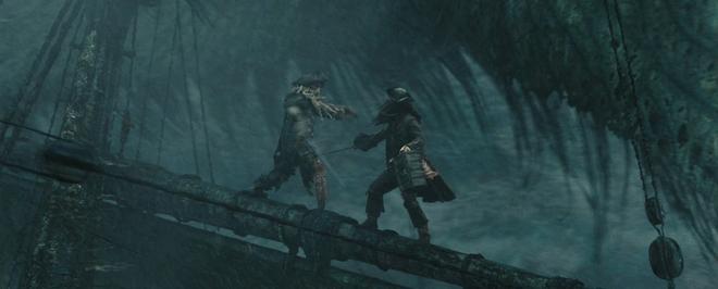 Et n'oublions pas les chouettes duels à l'épée…aussi over the top soient-ils parfois. / ©Walt Disney Imagineering / source : Pirates.wikia