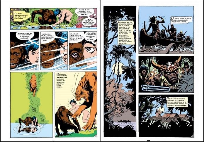 Deux exemples illustrant le découpage efficace du sieur Kubert. © Dark Horse Comics