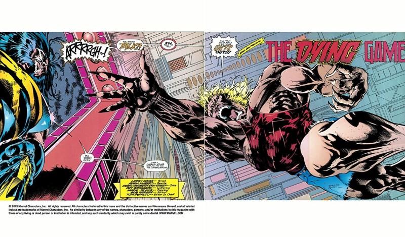 Une pagination qui s adapte à laffrontement de deux monstres sacrés de la série  © Marvel Comics