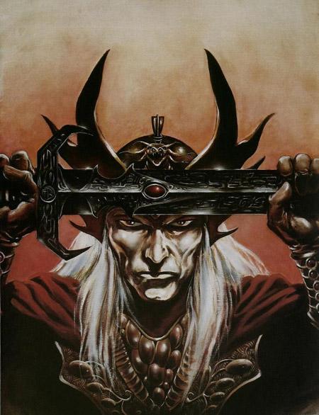L'illustration de JdR aperçue dans Strange provenait en fait d'une courte adaptation publiée dans Heavy Metal  (C) Frank Brunner